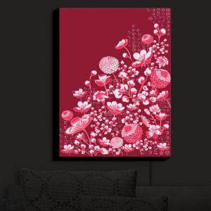 Nightlight Sconce Canvas Light | Yasmin Dadabhoy - Floral Bed 4 | flower nature pattern