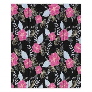 Decorative Wood Plank Wall Art | Yasmin Dadabhoy - Flower Vine 1 | Flowers Pattern Nature