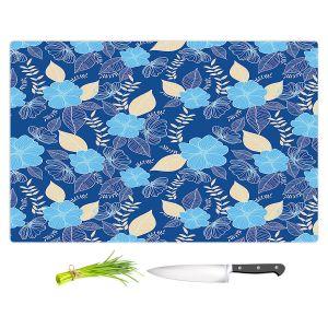 Artistic Kitchen Bar Cutting Boards | Yasmin Dadabhoy - Flower Vine 3 | Flowers Pattern Nature