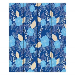 Decorative Wood Plank Wall Art | Yasmin Dadabhoy - Flower Vine 3 | Flowers Pattern Nature