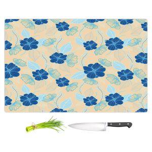 Artistic Kitchen Bar Cutting Boards | Yasmin Dadabhoy - Flower Vine 4 | Flowers Pattern Nature