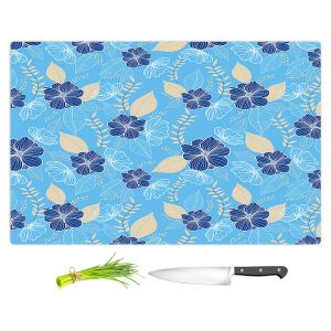 Artistic Kitchen Bar Cutting Boards | Yasmin Dadabhoy - Flower Vine 5 | Flowers Pattern Nature