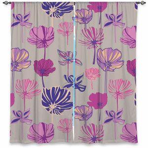 Decorative Window Treatments   Yasmin Dadabhoy - Linear Flowers 1A   Flowers Pattern