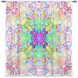 Decorative Window Treatments   Yasmin Dadabhoy - Mandala Rainbow   Geometric Nature Flowers