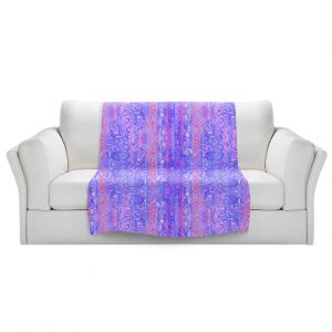 Artistic Sherpa Pile Blankets | Yasmin Dadabhoy - Mauve Swirls 1 | pattern circle geometric