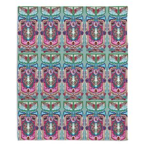 Artistic Sherpa Pile Blankets | Yasmin Dadabhoy - Pink Boho | bohemian pattern