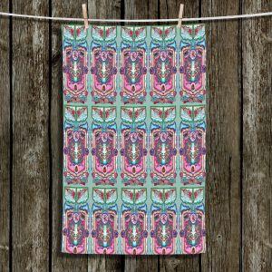 Unique Bathroom Towels | Yasmin Dadabhoy - Pink Boho | bohemian pattern