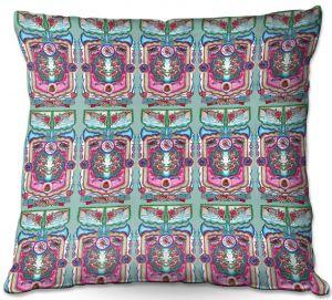 Decorative Outdoor Patio Pillow Cushion   Yasmin Dadabhoy - Pink Boho   bohemian pattern
