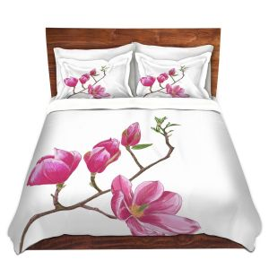 Artistic Duvet Covers and Shams Bedding   Yasmin Dadabhoy - Pink Floral 2   Flowers Nature