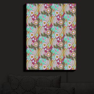 Nightlight Sconce Canvas Light | Yasmin Dadabhoy - Popart Gold | abstract pattern geometric