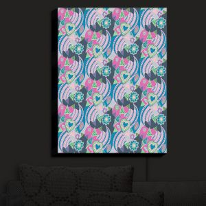Nightlight Sconce Canvas Light | Yasmin Dadabhoy - Popart Grey | abstract pattern geometric