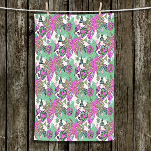 Unique Hanging Tea Towels | Yasmin Dadabhoy - Popart Pink | abstract pattern geometric