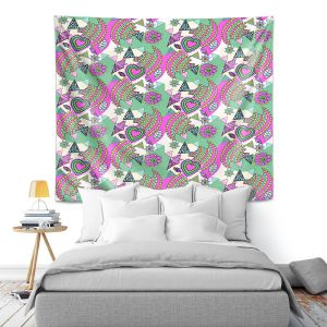 Artistic Wall Tapestry | Yasmin Dadabhoy - Popart Pink | abstract pattern geometric