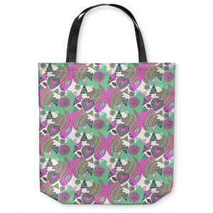 Unique Shoulder Bag Tote Bags | Yasmin Dadabhoy - Popart Pink | abstract pattern geometric