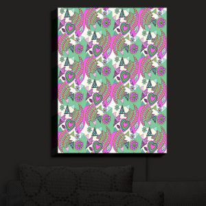 Nightlight Sconce Canvas Light | Yasmin Dadabhoy - Popart Pink | abstract pattern geometric