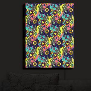 Nightlight Sconce Canvas Light | Yasmin Dadabhoy - Popart Yellow | abstract pattern geometric