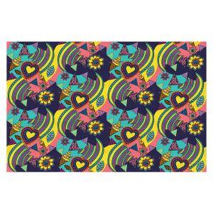 Decorative Floor Covering Mats | Yasmin Dadabhoy - Pops Art 1 | pattern repetition icecream heart flower leaf