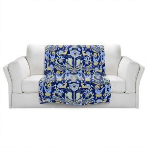 Artistic Sherpa Pile Blankets | Yasmin Dadabhoy - Project Wall Pattern 1 | Nature Flowers Leaves
