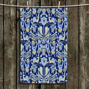 Unique Bathroom Towels | Yasmin Dadabhoy - Project Wall Pattern 1 | Nature Flowers Leaves