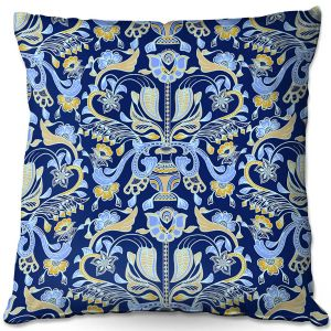 Throw Pillows Decorative Artistic | Yasmin Dadabhoy - Project Wall Pattern 1 | Nature Flowers Leaves