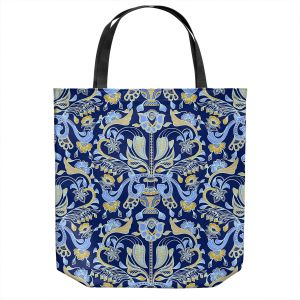 Unique Shoulder Bag Tote Bags | Yasmin Dadabhoy - Project Wall Pattern 1 | Nature Flowers Leaves