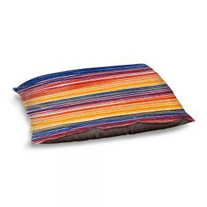 Decorative Dog Pet Beds | Yasmin Dadabhoy - Rainbow Lines | Abstract Pattern