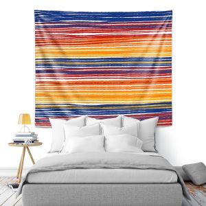 Artistic Wall Tapestry | Yasmin Dadabhoy - Rainbow Lines | Abstract Pattern