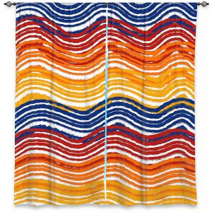Decorative Window Treatments   Yasmin Dadabhoy - Rainbow Waves   Abstract Pattern