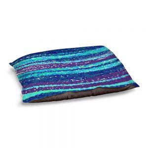 Decorative Dog Pet Beds | Yasmin Dadabhoy - Sea Waves Blue Purple | Abstract Landscape Ocean