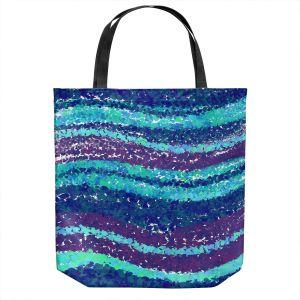 Unique Shoulder Bag Tote Bags   Yasmin Dadabhoy - Sea Waves Blue Purple   Abstract Landscape Ocean