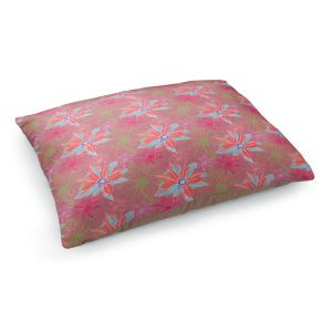 Decorative Dog Pet Beds | Yasmin Dadabhoy - Shaded Flower Peach Pink | floral pattern repetition
