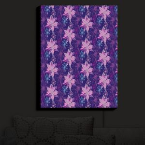 Nightlight Sconce Canvas Light | Yasmin Dadabhoy - Shaded Flower Purple Pink