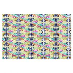 Decorative Floor Covering Mats | Yasmin Dadabhoy - Snowflake Pattern 1 | nature snow geometric pattern