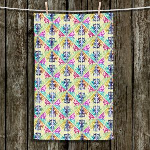 Unique Hanging Tea Towels | Yasmin Dadabhoy - Snowflake Pattern 1 | nature snow geometric pattern