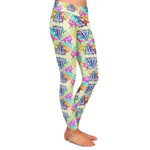 Casual Comfortable Leggings | Yasmin Dadabhoy - Snowflake Pattern 1 | nature snow geometric pattern