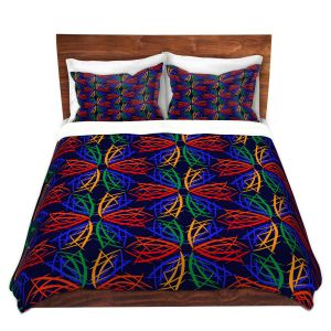 Artistic Duvet Covers and Shams Bedding | Yasmin Dadabhoy - Snowflake Pattern 2 | nature snow geometric pattern