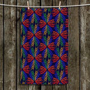 Unique Hanging Tea Towels   Yasmin Dadabhoy - Snowflake Pattern 2   nature snow geometric pattern