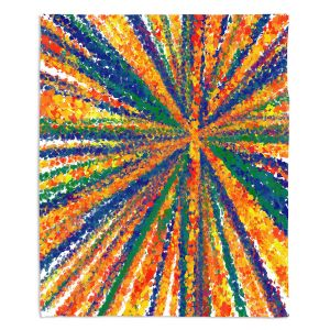 Decorative Fleece Throw Blankets | Yasmin Dadabhoy - Sun Light | Abstract