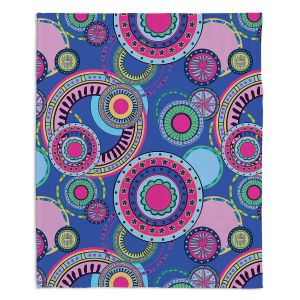 Artistic Sherpa Pile Blankets | Yasmin Dadabhoy - Truck Circles D | circle geometric flower