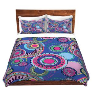 Artistic Duvet Covers and Shams Bedding | Yasmin Dadabhoy - Truck Circles D | circle geometric flower