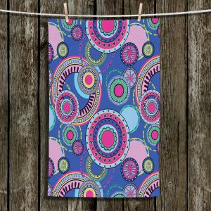 Unique Bathroom Towels | Yasmin Dadabhoy - Truck Circles D | circle geometric flower