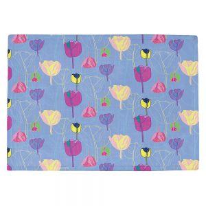 Countertop Place Mats   Yasmin Dadabhoy - Tulips Periwinkle Purple   flower floral pattern