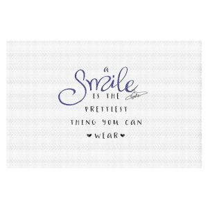 Decorative Floor Coverings | Zara Martina - A Smile Blue Sparkle | Inspiring Typography Lady Like