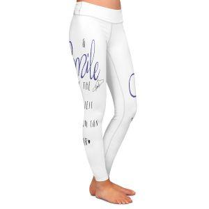 Casual Comfortable Leggings | Zara Martina - A Smile Blue Sparkle | Inspiring Typography Lady Like