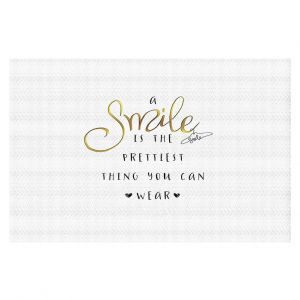 Decorative Floor Coverings | Zara Martina - A Smile Gold | Inspiring Typography Lady Like