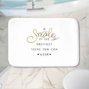 Decorative Bathroom Mats | Zara Martina - A Smile Gold | Inspiring Typography Lady Like