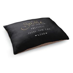 Decorative Dog Pet Beds | Zara Martina - A Smile Gold Sparkle Black | Inspiring Typography Lady Like