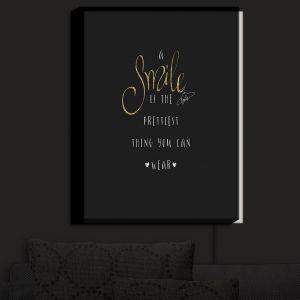 Nightlight Sconce Canvas Light | Zara Martina - A Smile Gold Sparkle Black