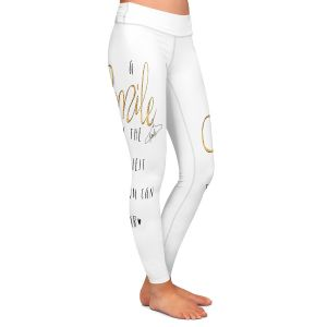 Casual Comfortable Leggings | Zara Martina - A Smile Gold Sparkle | Inspiring Typography Lady Like