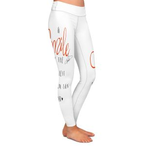 Casual Comfortable Leggings | Zara Martina - A Smile Orange | Inspiring Typography Lady Like